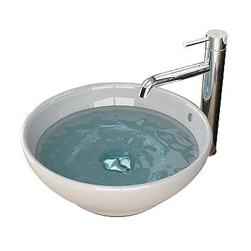 Keramikbecken Waschschale Aufsatzbecken Sanitärkeramik Aufsatzschale  Aufsatzschale Zeitloses Design Badezimmer Einrichtung