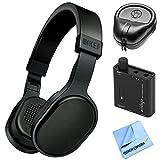 KEF M500 Hi-Fi On Ear Headphones M-Series Bundle with Slappa HardBody Pro Headphone Case Plus Indigo Portable Amplifier w/ Bass Boost EQ And Microfiber cloth (Black)