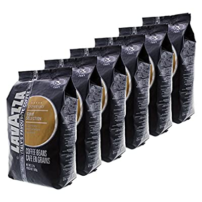Lavazza Coffee Espresso Gold Selection, whole Beans, Pack of 6, 6 x 1000g