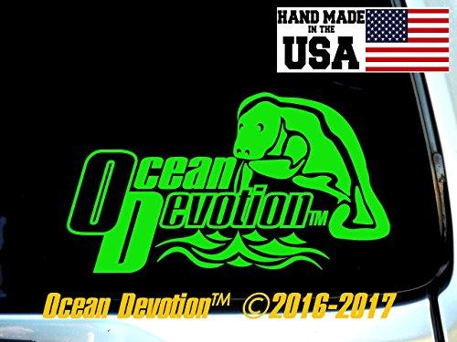Offshore Fishing Boat Ocean Devotion Vinyl Decal//Sticker Car Window Salt Life