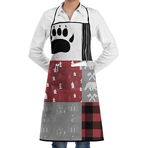 Little Lumberjack Cheater Quilt Funny Chef Aprons Kitchen Aprons Size 28.3 X 20.8