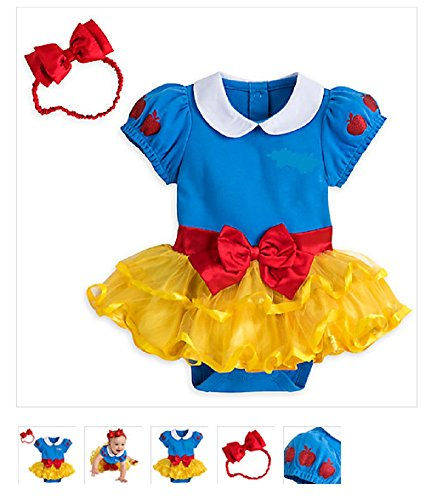 Disney - Snow White Costume Bodysuit for Baby - Size 18-24 months
