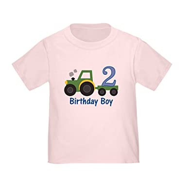 CafePress 2Nd Birthday Tractor Toddler T Shirt Cute 100 Cotton