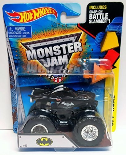 Hot Wheels Monster Jam 2015 Off-Road DC Batman 1:64 Scale, - 64 Bat