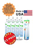 (12 Pack) Whirlpool 8212491 Compatible Refrigerator Water and Ice Filter by Zuma Water Filters (OPFW)
