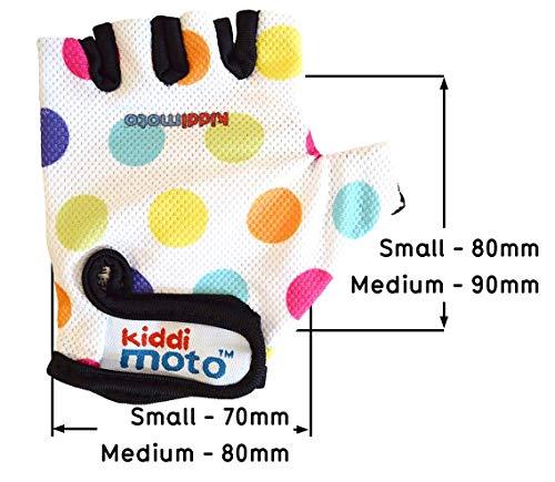 - Bicicleta S KIDDIMOTO Monta/ña Carretera 2-5 y MTB Guantes de Ciclismo sin Dedos para Infantil BMX ni/ñas y ni/ños - Puntos Pastel