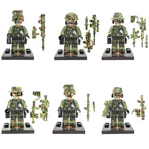 6Pcs ArmyFigures Minifigures Mini Block Educational Toys DIY Building Blocks Brinks (Original Batman Suit)