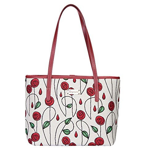 (Charles Rennie Mackintosh Rose Art Nouveau Tote Bags for Women/Shoulder Bag for Women by Signare/COLL-RMSP)