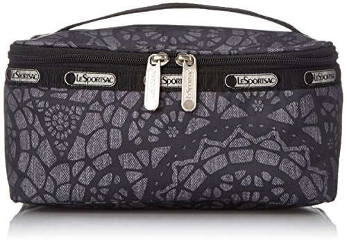 LeSportsac Rectangular Train Case Cosmetic Bag, Lace, One (Artwork Polyester Lace)