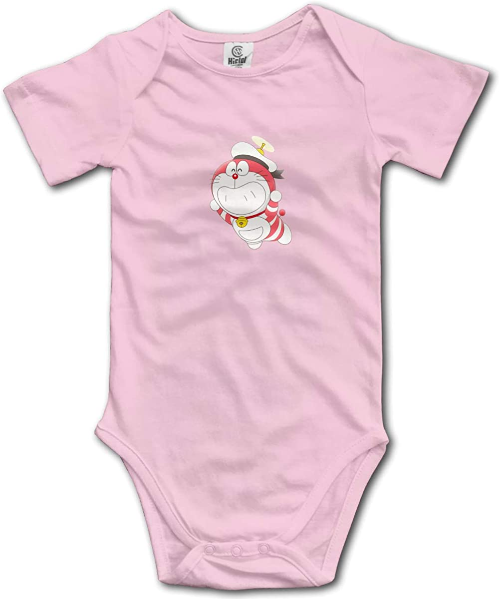 EVE JOHN Doraemon Red Sailor Baby Boy and Baby Girl Jumpsuits Breathable Black