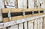 Nautical Boat Cleat Coat Rack, Towel Rack, or Hat Rack, Pine and Walnut