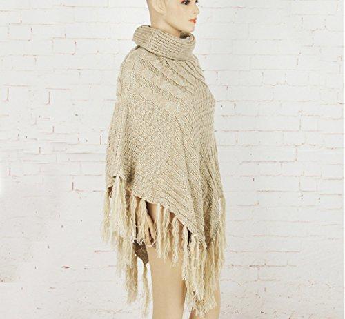 Icegrey - Poncho - capa - para mujer Beige