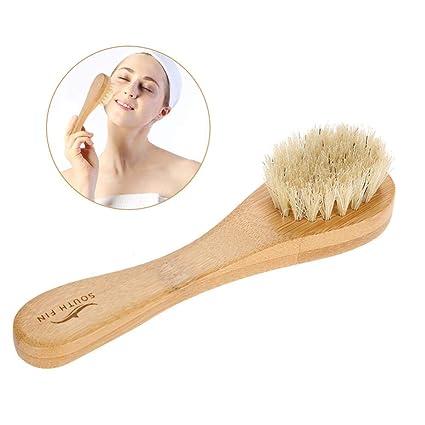 Cepillo de limpieza facial cuerpo ducha cerdas suaves naturales Exfoliante de poros profundos Exfoliante facial cepillo