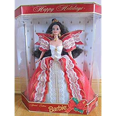 Barbie Happy Holidays Doll - Special Edition 10th Aniversary Hallmark 5th in Series (1997): Toys & Games