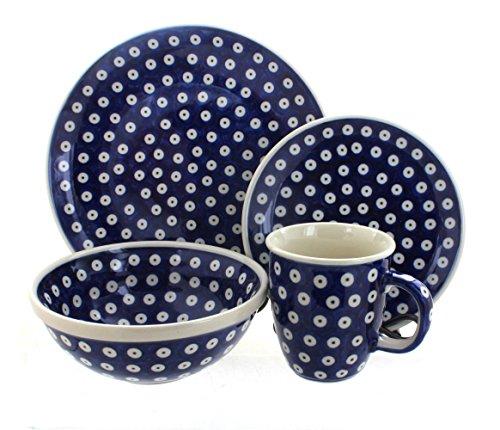 Polish-Pottery-Dots-16-Piece-Dinner-Set