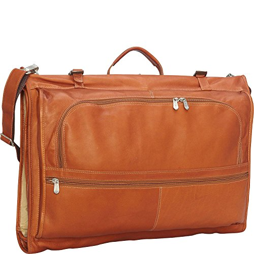 Piel Leather Tri-Fold Garment Bag, Saddle, One Size by Piel Leather