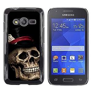 TECHCASE**Cubierta de la caja de protección la piel dura para el ** Samsung Galaxy Ace 4 G313 SM-G313F ** Top Hat Poker Cards Halloween Metal Music