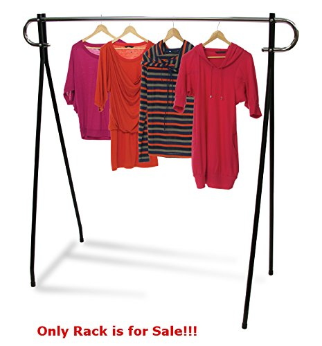 - Retails Chrome 2-Tone Finish Single Rail Clothing Rack 60
