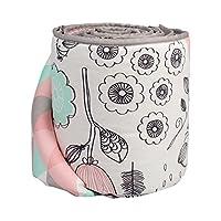 Lolli Living Sparrow Bumper – Sparrow/Tripod – Crib Bumper W/ Cotton Shell, R...