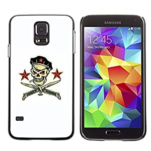 Plastic Shell Protective Case Cover || Samsung Galaxy S5 SM-G900 || Pirate Skull White Communist Russian @XPTECH