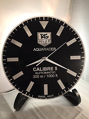 tag heuer aquaracer calibre 5 dial face wall clock import it all