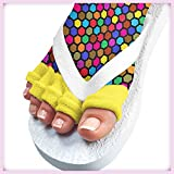 Pedisavers Toe Separator Pedicure Socks, Disco Diva