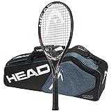 Head MxG 5 Tennis Racquet – STRUNG with 3 Racquet Bag (4-1/2)
