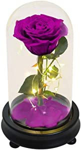 CLL Bouquet Flowers Rose - Bouquet of Artificial Roses Leaf Gift Box, for Valentine's Day, Mother's Day, Birthday, Anniversary, Christmas, Decoration