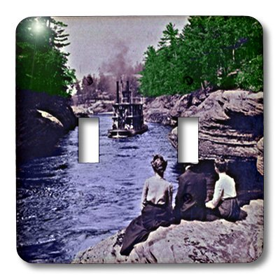 3dRose LLC lsp_21678_2 Vintage 1899 Wisconsin Dells Narrows Double Toggle - Outlet Wisconsin Dells