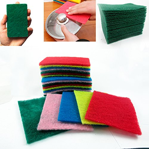 60 Ct Scouring Pads Medium Duty Home Kitchen Scour Scrub Cleanning Pad -