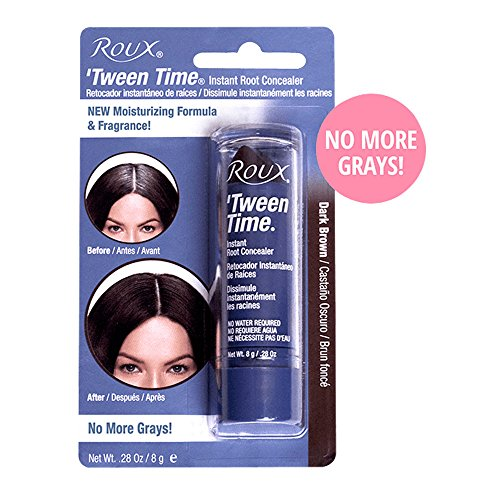 Tween Time Hair Crayons (Roux Temporary Haircolor Touch-Up Stick Dark Brown, 1 ea (Pack of 3))