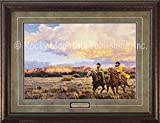 Tim Cox Art - Racing Sundown - Custom Framed Western Art Print Ready to Hang