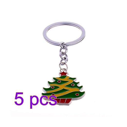 EMILF Home Lindo Mini árbol de Navidad diseño Bolso Llavero ...