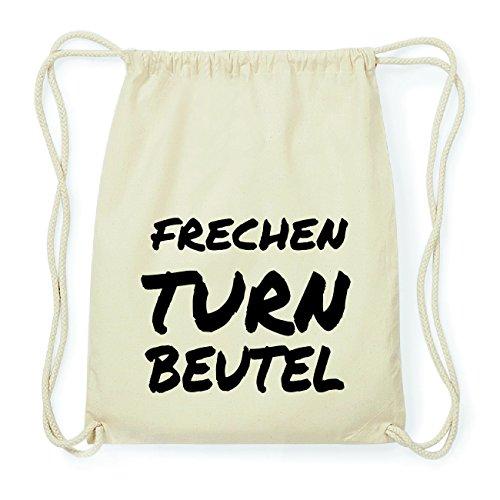 JOllify FRECHEN Hipster Turnbeutel Tasche Rucksack aus Baumwolle - Farbe: natur Design: Turnbeutel