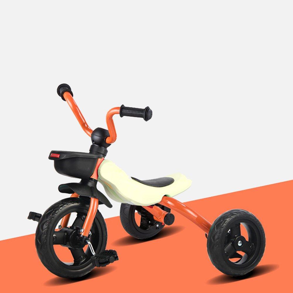 YANFEI 子ども用自転車 子供の三輪車2歳まで6歳の男性と女性の赤ちゃん折り畳み式幼児自転車ポータブル自転車 子供用ギフト B07DZC7M81 オレンジ オレンジ
