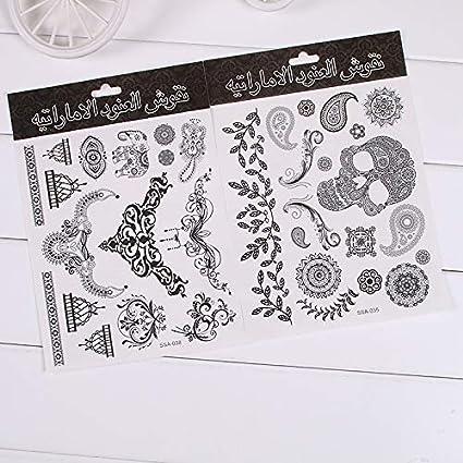 Pegatinas de tatuaje temporales originales falsos negros guapos ...