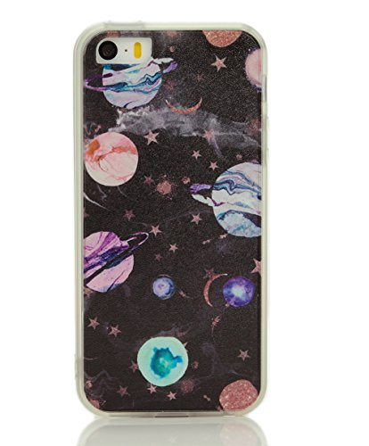ycmcover iPhone SE 5 5S Case Heavy Duty Matte Finish Cover with Tpu Soft Bumper Solar System Planet