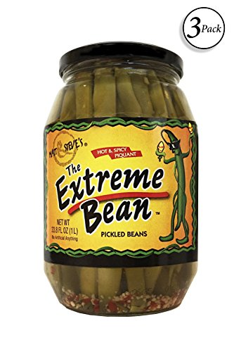 Green Beans Spices - The Extreme Bean - Hot & Spicy, Pickled Green Beans. 33 oz (3 pack)