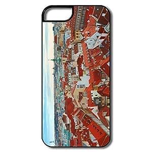 IPhone 5/5S Cases, Prague Cases For IPhone 5 - White/black Hard Plastic