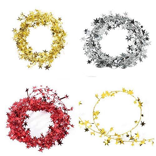 wire star garland - 8