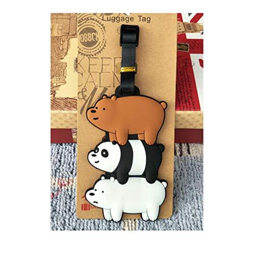 UGDXL Travel Accessories Cute Cartoon Bear Luggage Tag Silica Gel Suitcase ID Address Holder Baggage Boarding Tags Portable Label ()