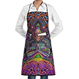 May Yoga Meditating Chef Aprons Black Cooking Waist Apron Intended For Teens Drill