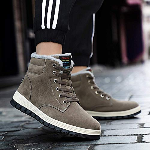 Boots Sportive Outdoor Impermeabile Pelliccia Stivaletti Grigio 48 Piatto Eu Neve Sneaker 39 Da Scarpe All'aperto Caldo Invernali Uomo Stivali Classici OP7Bnxfqxv