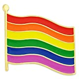 PinMart's Rainbow Gay Pride Flag LGBT Enamel Lapel Pin