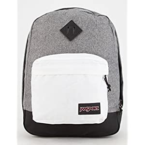JanSport Super FX Series Backpack (Black White Letterman)