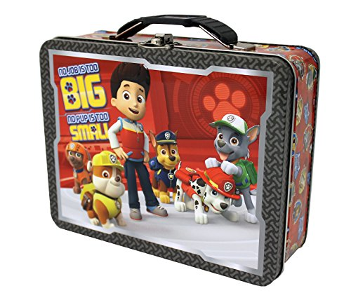The Tin Box Company 387607-12 Paw Patrol Carry All Tin- Assorted Metal Lunch Boxes For Kids