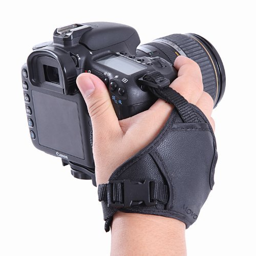 Movo HSG-2 DualStrap Padded Wrist and Grip Camera Strap for DSLR Cameras Including Canon, Nikon, Sony, Olympus, SLRs - Prevent Accidental Drops - Perfect for Camera Stability and (Best Grip Strap For Dslrs)