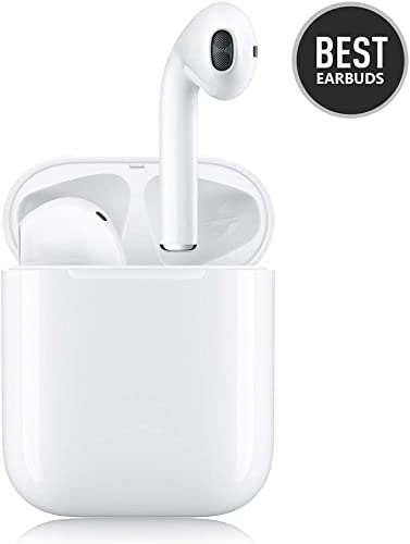 Wireless Earbuds Wireless Bluetooth Earbuds 3D Stereo Headphones 24H Fast Charging Case IPX5 Waterproof Sports Headphones Built in Mic in Ear Ear Buds Noise Cancelling Headsets for iPhone Android