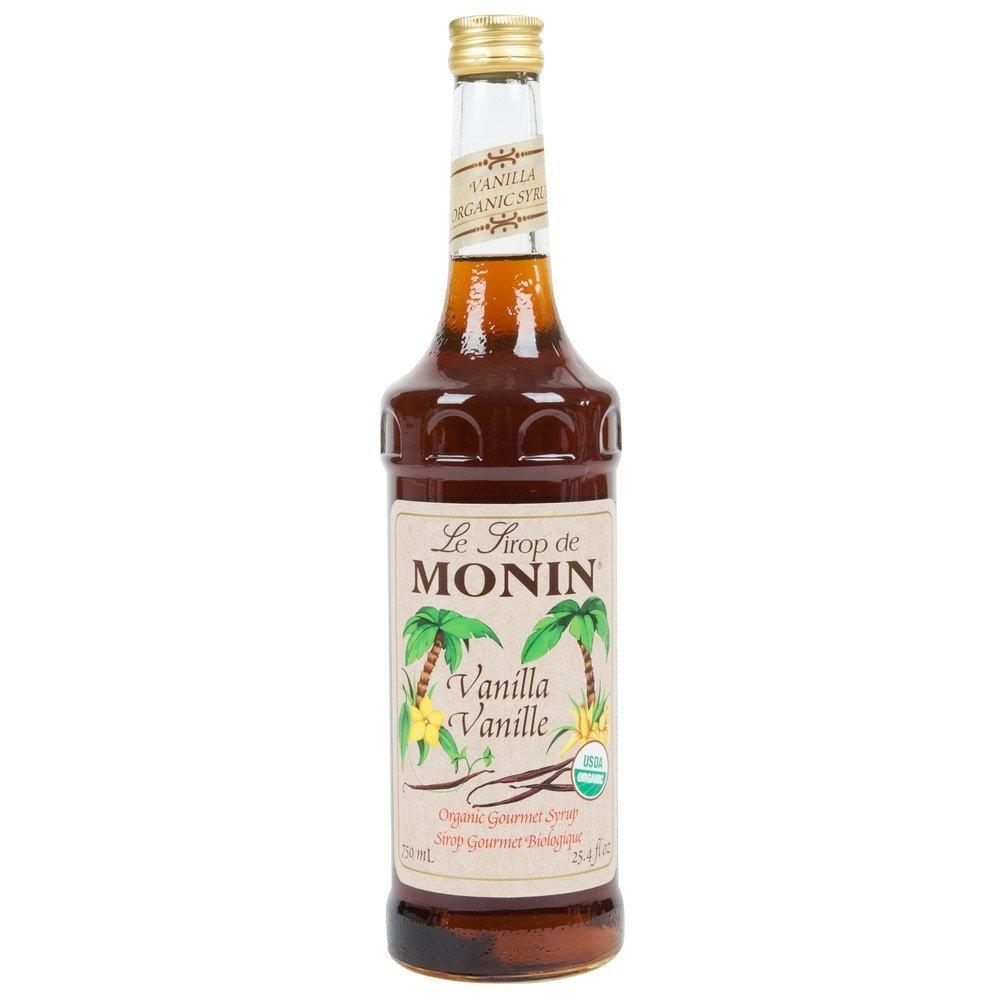 Monin Organic Vanilla Syrup 750 ml