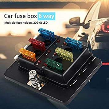 electroprime 8dc4 32v spare safety car fuse box replacement 6 road car fuse  holder: amazon.in: toys & games  amazon.in